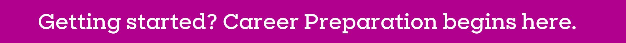career prep banner