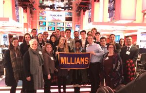 Students at MSNBC's Morning Joe! Live set on the Foreign Affairs Career Trek in NYC.