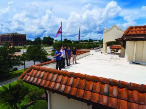 IHMC Cybersecurity team's Bitcoin project, taken on the roof of IHMC's downtown Pensacola.
