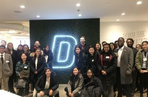 Students at Deutsch Advertising on the annual Media & Communications Career Trek